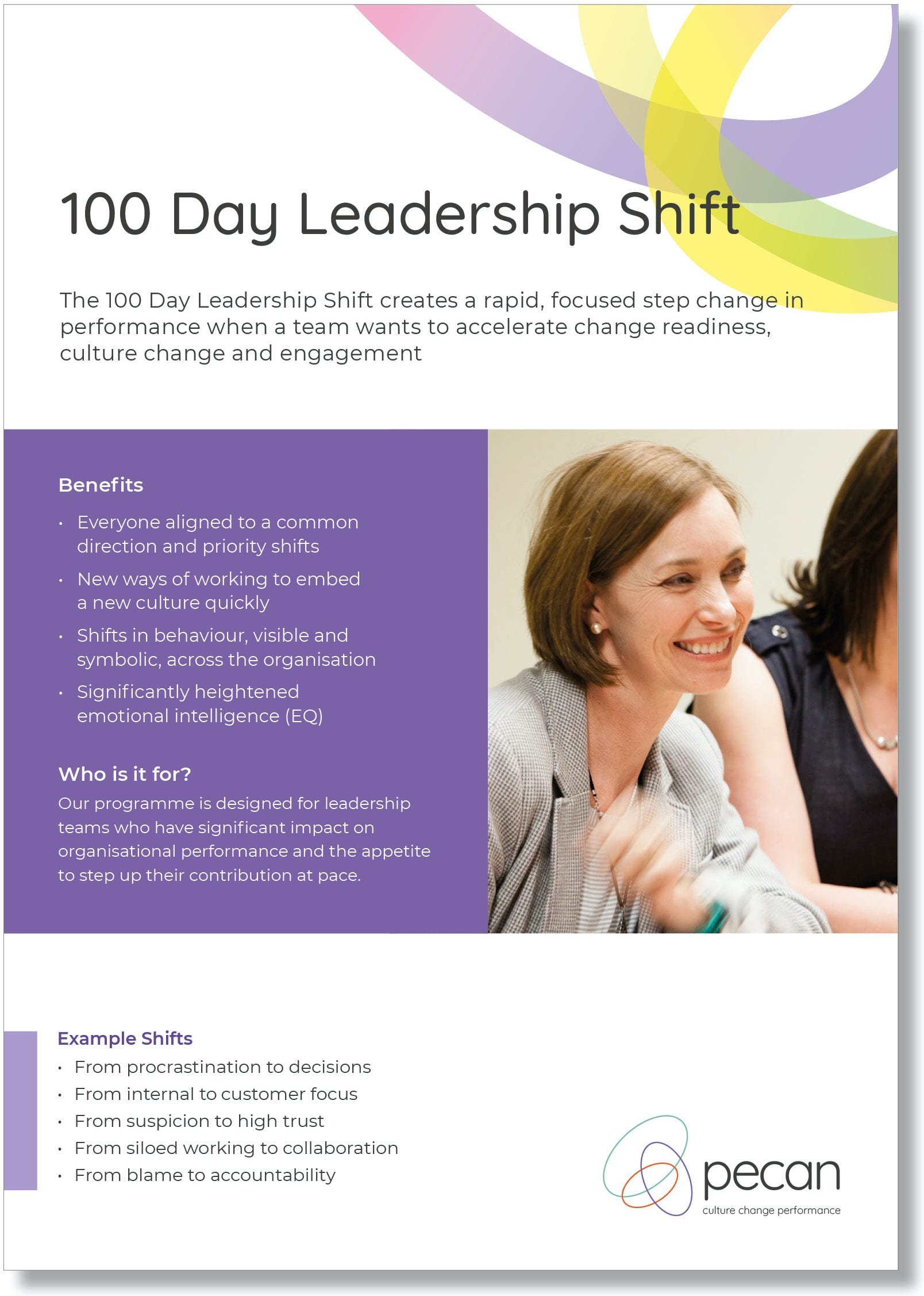 100 day leadership shift front cover