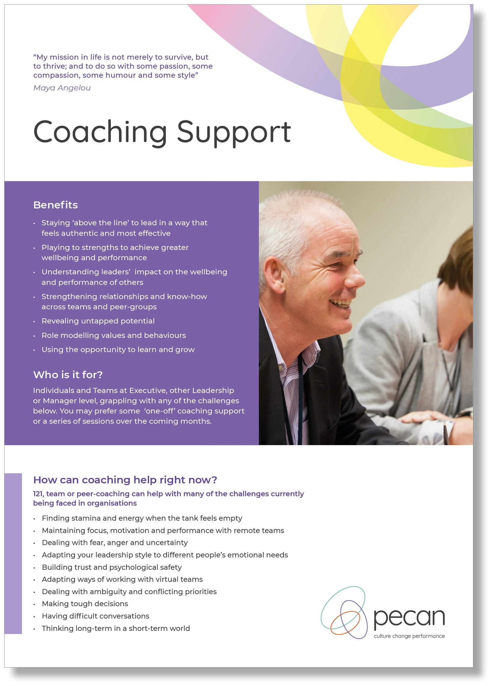 Coaching support front cover